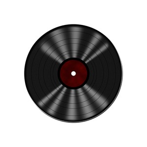 vinyl record for a turntable